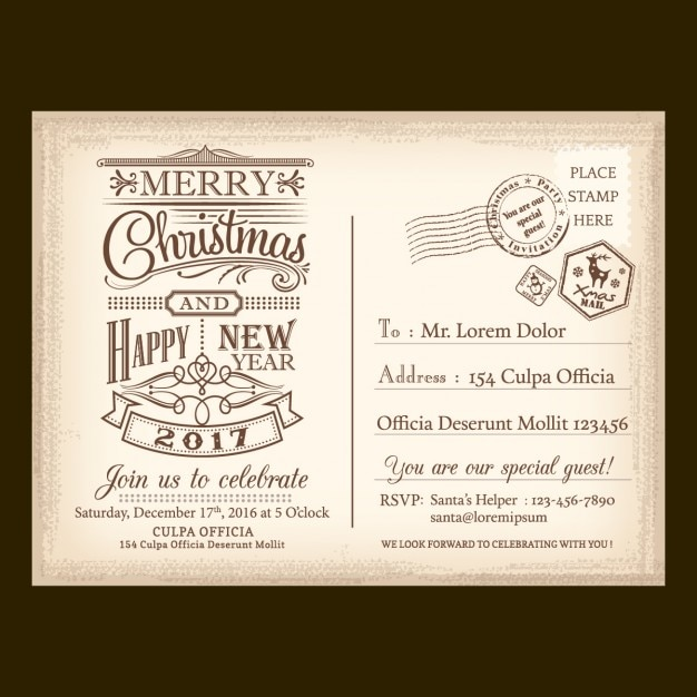 A vintage letter for santa claus vector free download a vintage letter for santa claus free vector spiritdancerdesigns Image collections