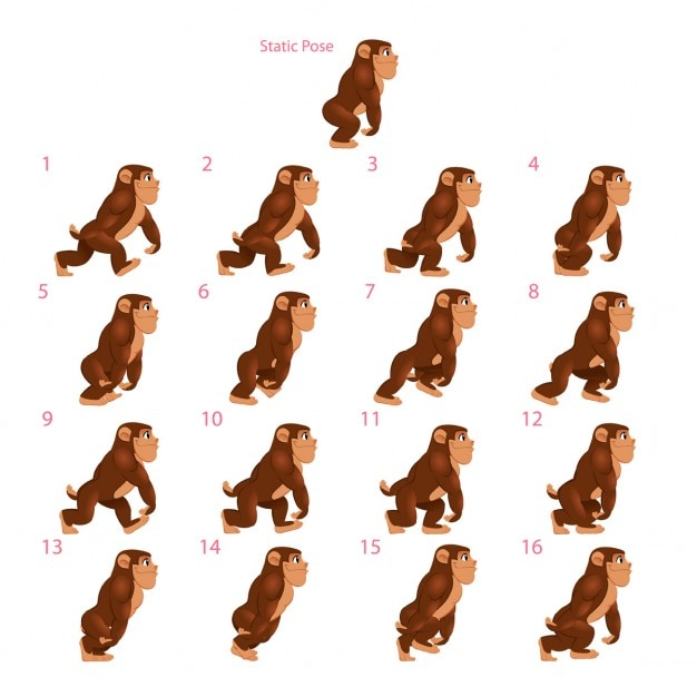 A walking monkey Vector | Free Download