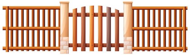 Деревянная баррикада Бесплатные векторы