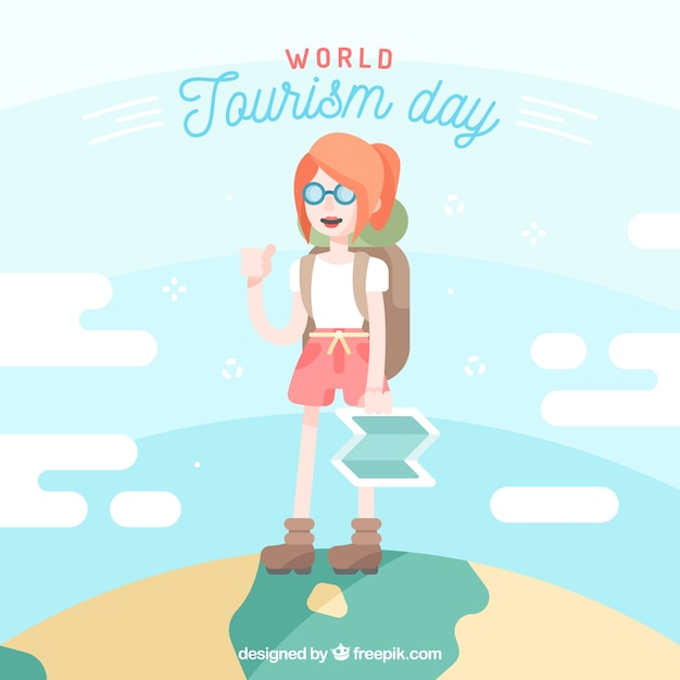 A young traveller, world tourism day