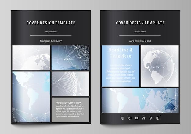 A4 format covers design templates for brochure Premium Vector