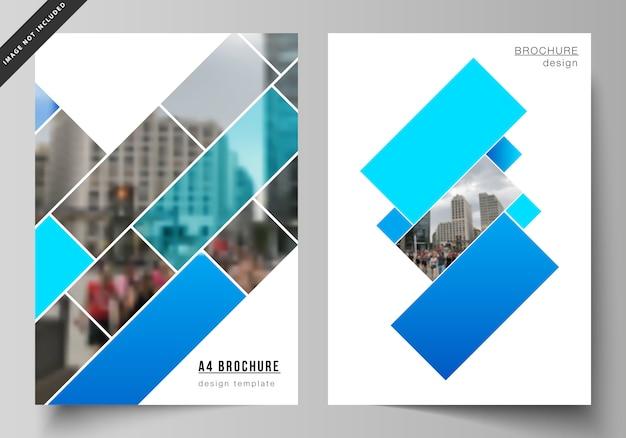 Современные шаблоны обложек формата а4 для брошюры Premium векторы