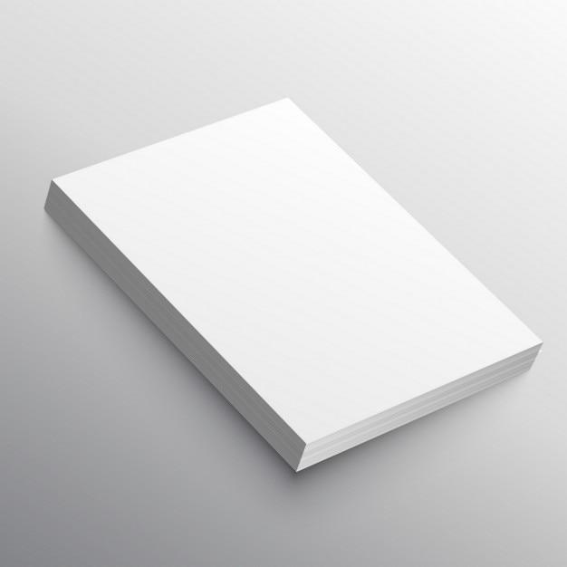 A4, mockup Free Vector