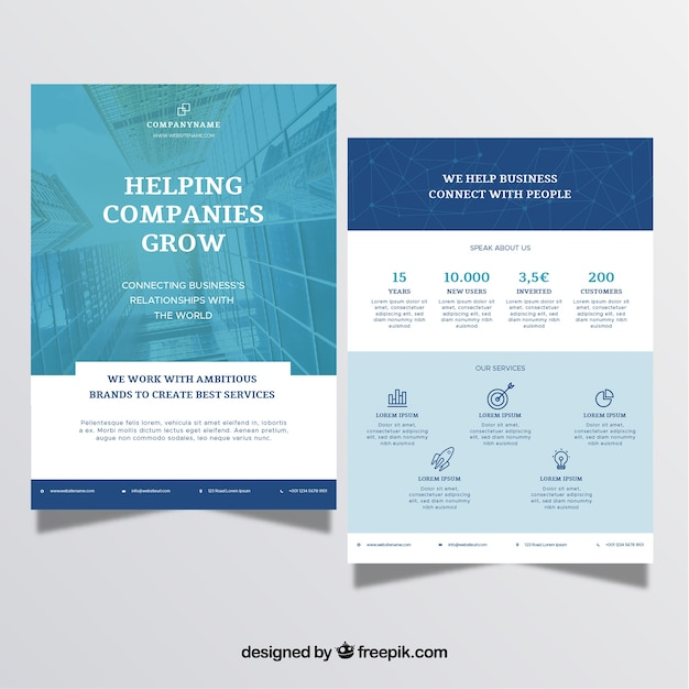 A5 business brochure in flat style Free Vector