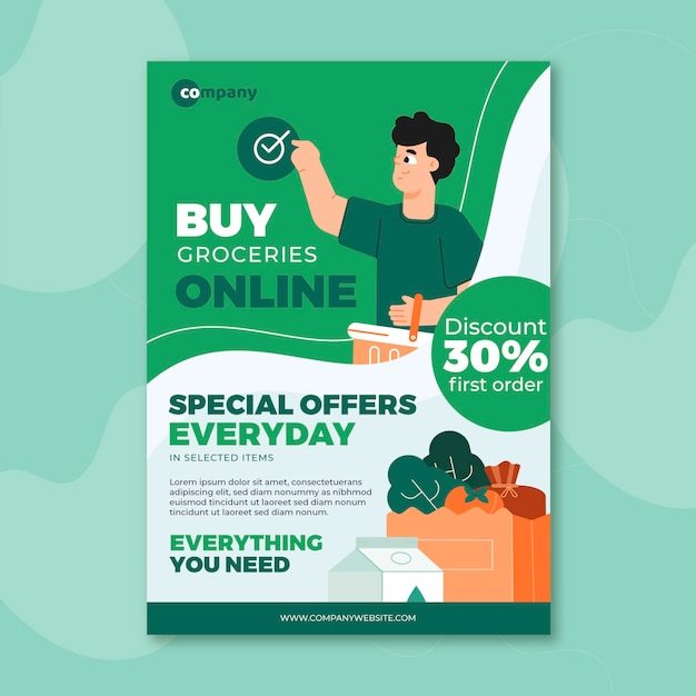 A5 flyer template Free Vector