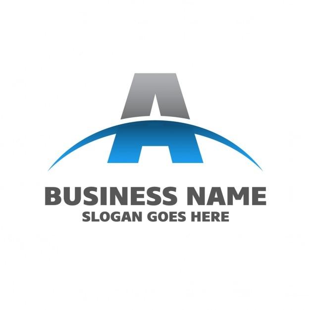 抽象aビジネスのロゴ 無料ベクター