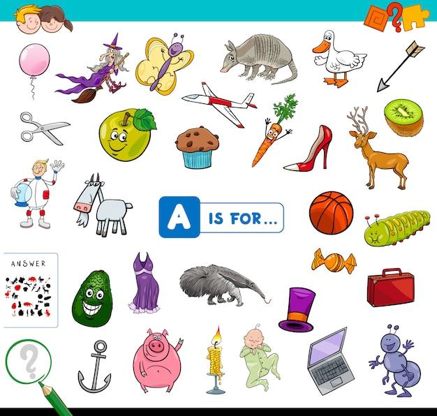 Aは子供向け教育ゲーム用です Premiumベクター