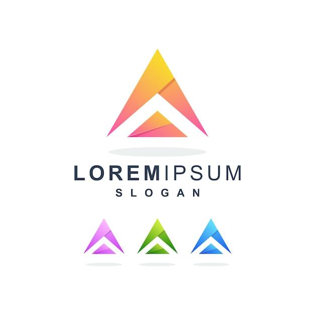 カラフルな抽象的な手紙aロゴプレミアム Premiumベクター