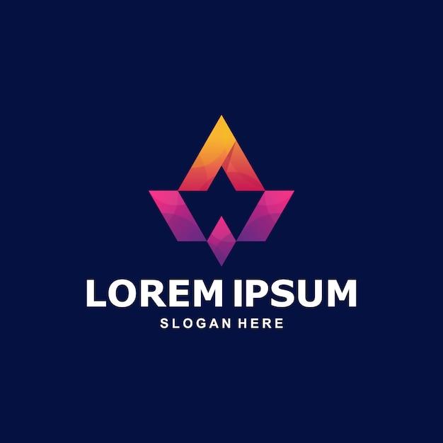 カラフルな抽象文字aロゴプレミアム Premiumベクター