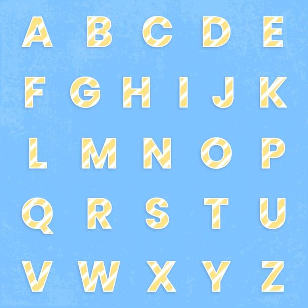 Abc 글꼴 세트 무료 벡터
