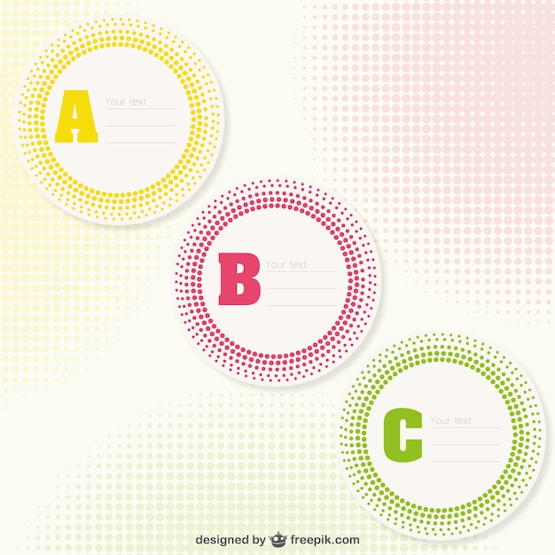abc sticker templates vector free download