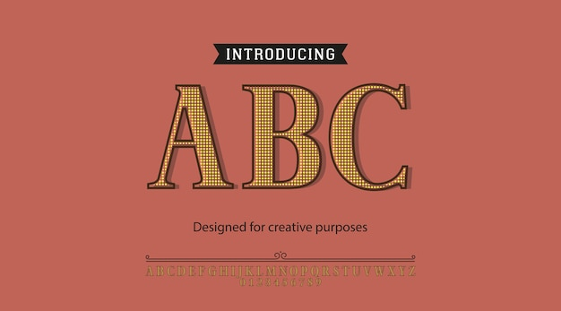 Abc typeface. for different type designs Premium Vector