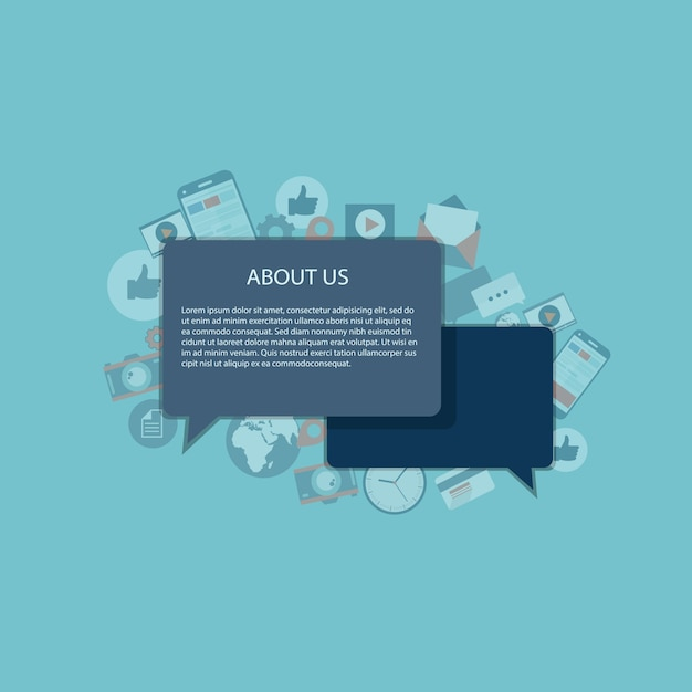 About us concept Free Vector
