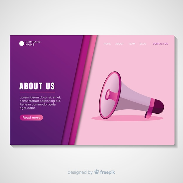 About us landing page template Free Vector