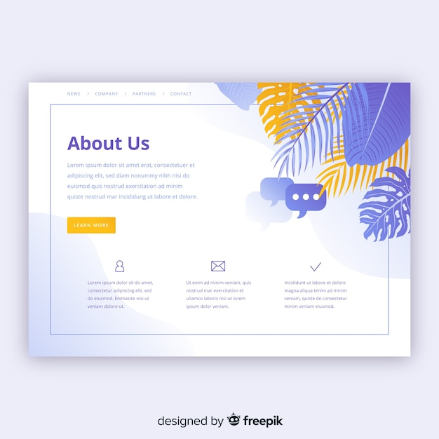 about us page template free download