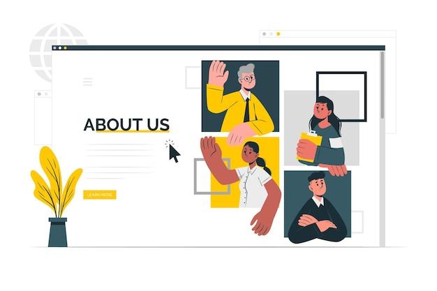 О нас страница концепции иллюстрации Бесплатные векторы