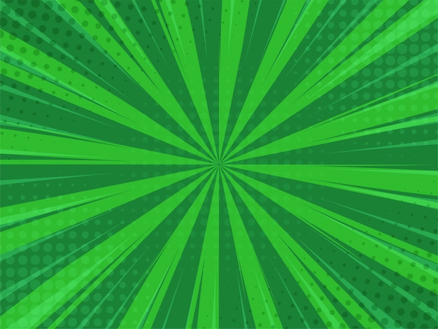 Abstack green background cartoon style. bigbamm or sunlight. Premium Vector