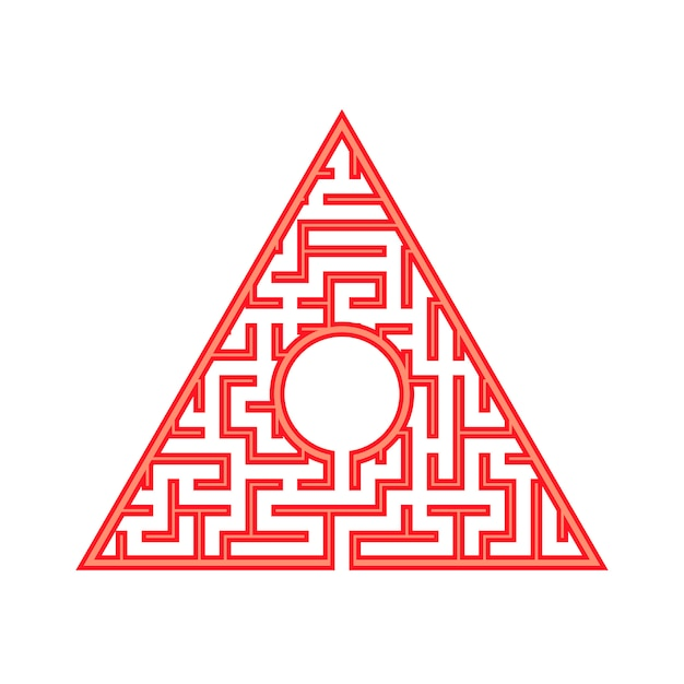 Abstact labyrinth. Premium Vector