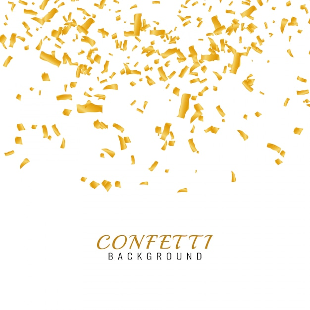 Abstarct golden confetti background Free Vector