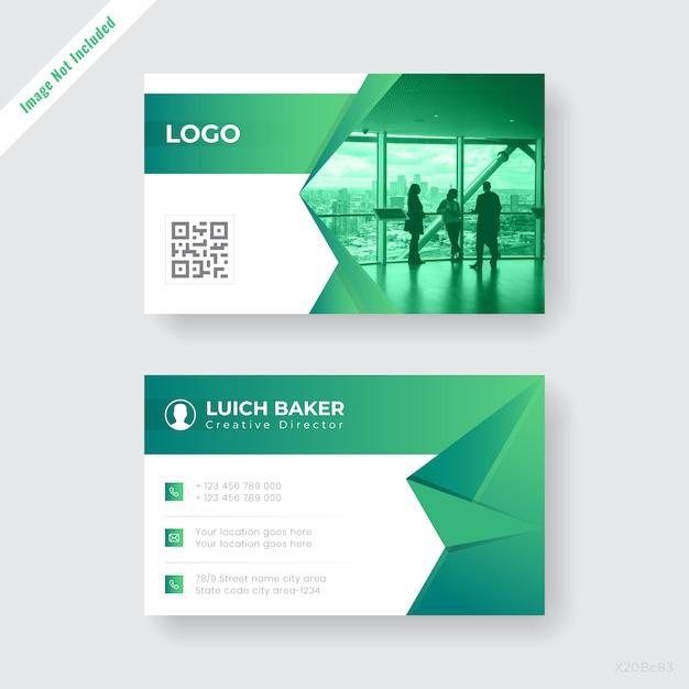 Abstrac companyt business card design Vettore gratuito