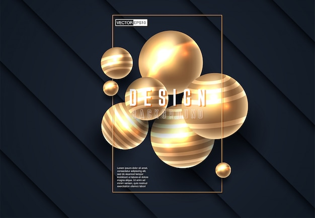Abstract 3d background with black paper layers Premium Vector