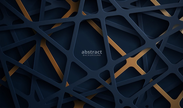 Abstract 3d background with blue papercut. abstract realistic papercut decoration textured Premium Vector