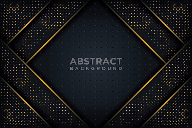 Abstract 3d background with a combination of luminous dots in 3d style. Premium Vector