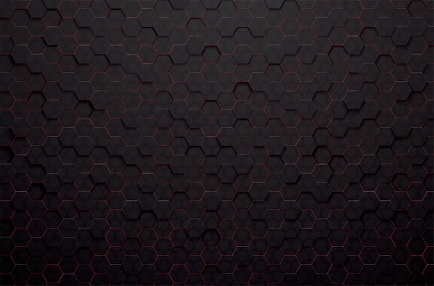 Abstract 3d black polygon background Premium Vector
