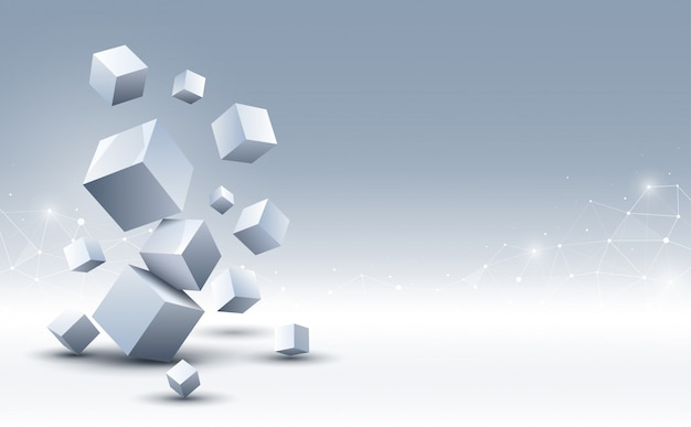 Abstract 3d cubes background. science and technology background. abstract background