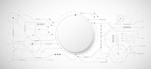 Abstract 3d design background with technology dot and line Premium Vector