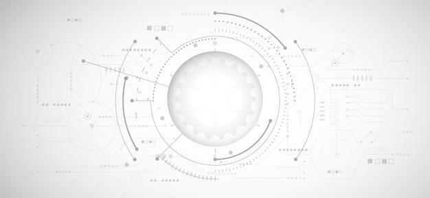 技術と抽象的な3 dデザインの背景 Premiumベクター