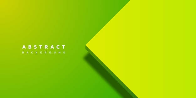 Abstract 3d green background with blank space of paper layer Premium Vector