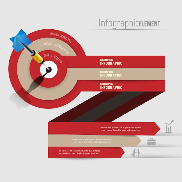 Abstract 3d modern infographics Premium Vector