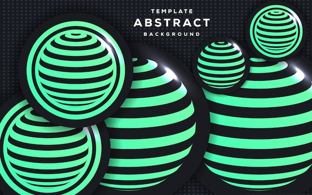 Abstract 3d style with sphere background Premium Vector