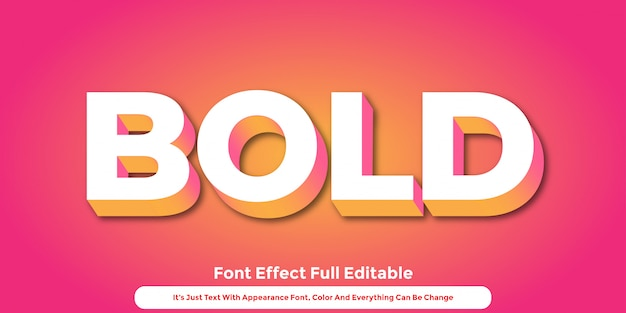 Abstract 3d text graphic style design Premium Vector