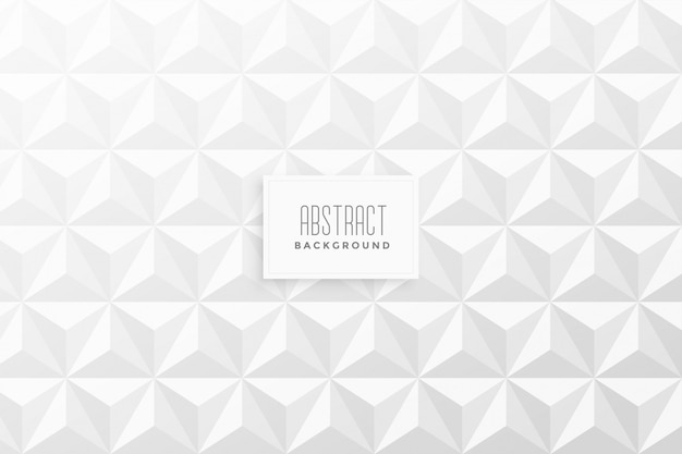 Abstract 3d triangle shape pattern background Free Vector