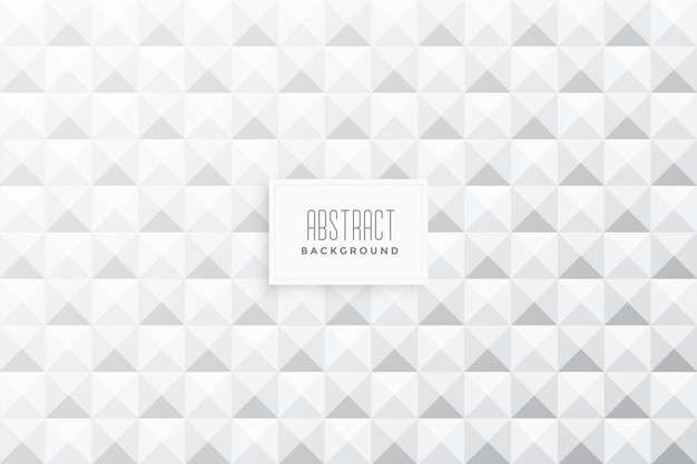 Abstract 3d triangles shape white background Free Vector