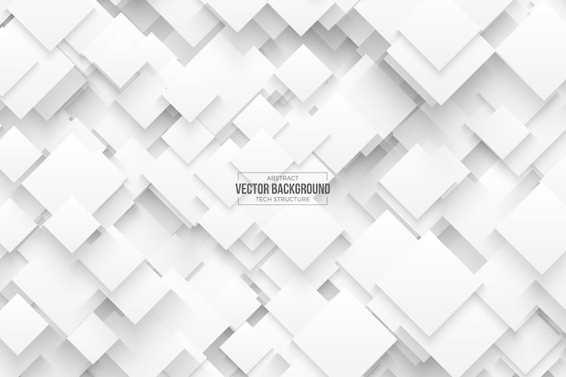 Abstract 3d vector technology white background Premium Vector