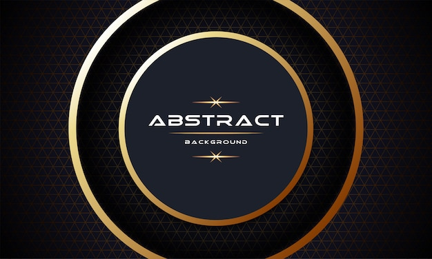 Abstract 3d with gold paper layers background template design Premium Vector
