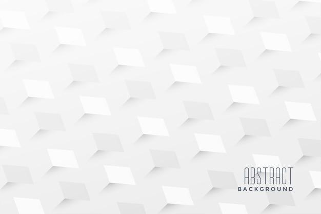抽象的な3 dジグザグスタイルの白い背景 無料ベクター