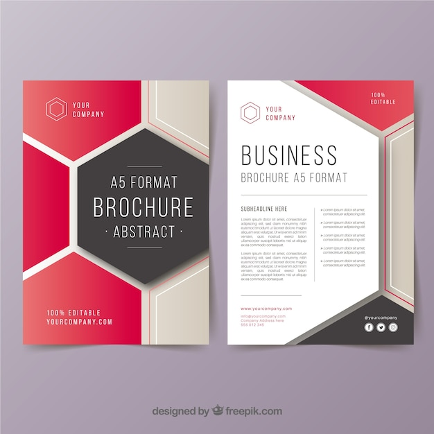 abstract a5 business brochure template