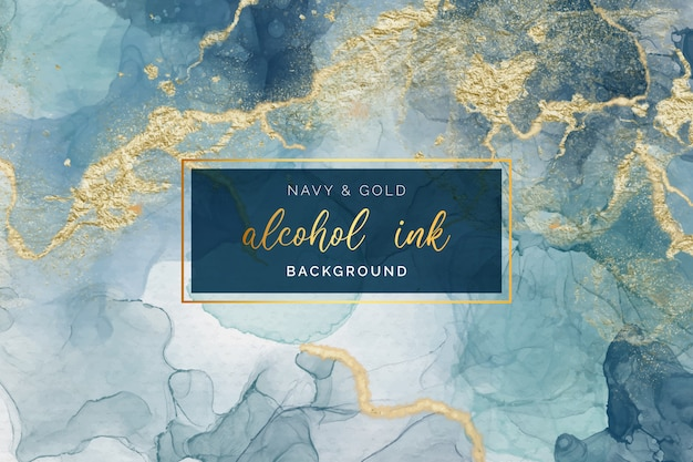 Abstract alcohol ink background Free Vector