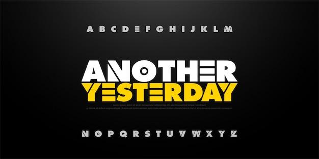 Abstract alphabet bold fun font. typography sport Premium Vector