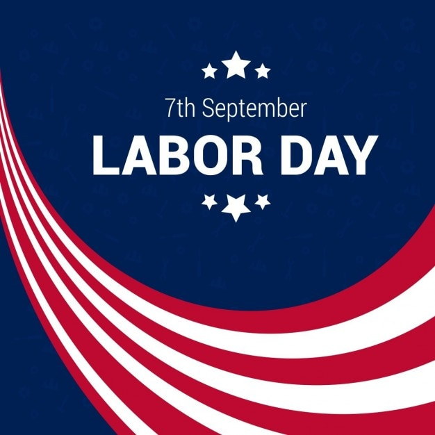 Abstract american labor day background with stripes