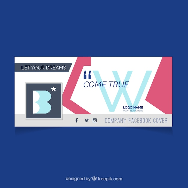 Abstract and modern business facebook cover
