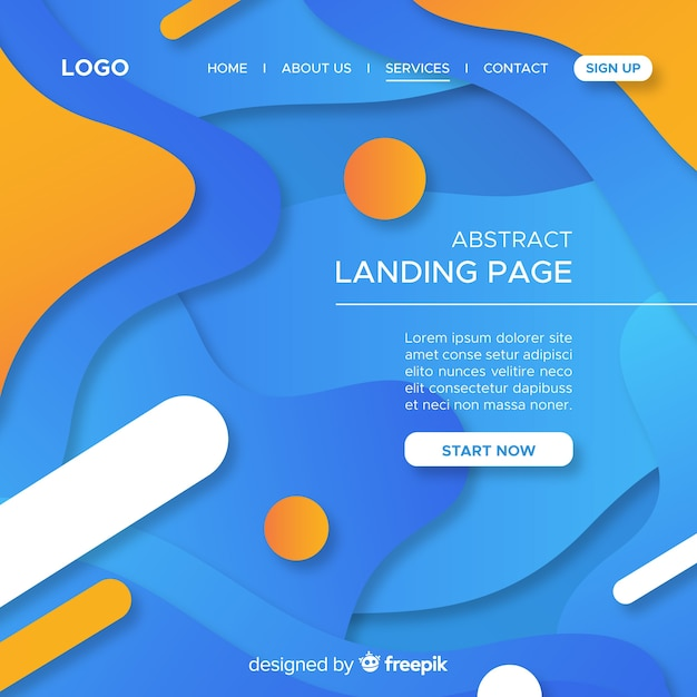 Abstract anding page background Free Vector