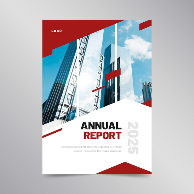 Abstract annual report template concept Free Vector