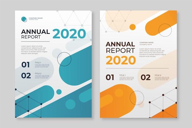 Абстрактный годовой отчет шаблон с Premium векторы