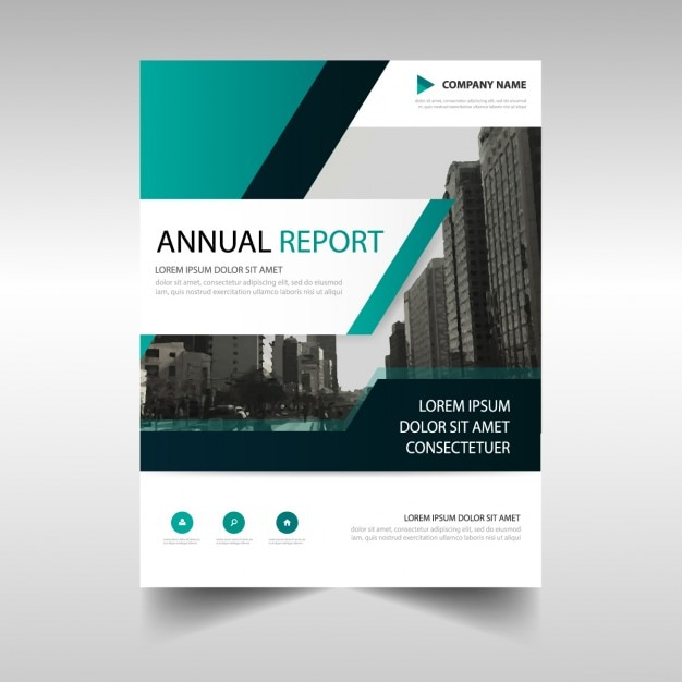 Abstract Annual Report Template Vector | Free Download