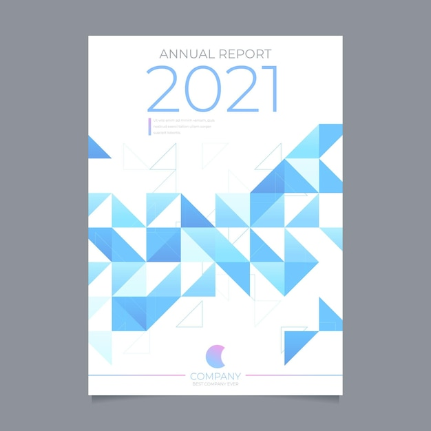 Abstract annual report template Free Vector